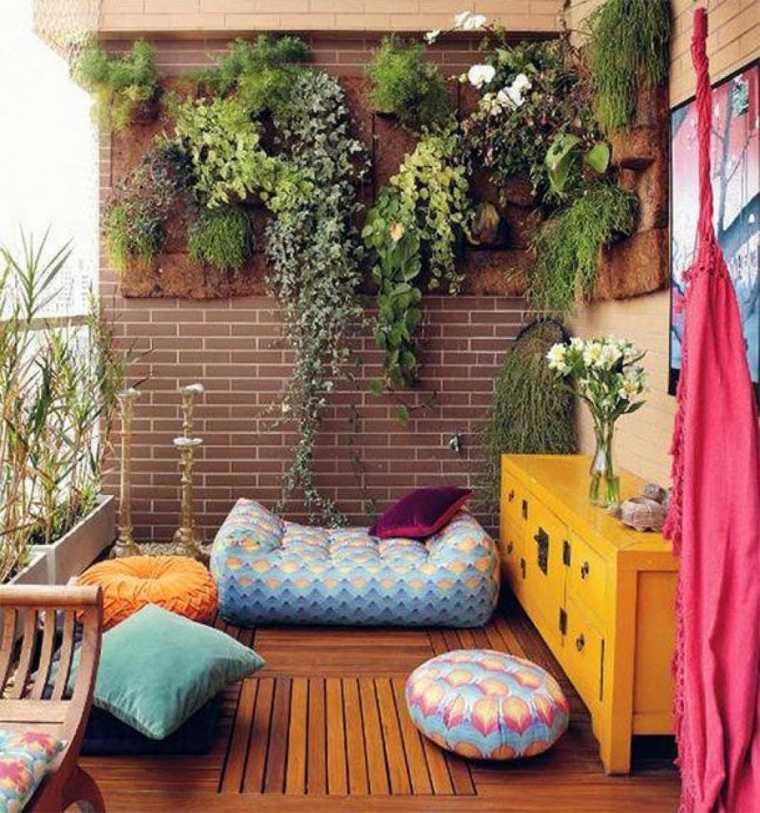boho estilo terraza
