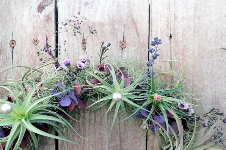 bonita corona decorativa plantas