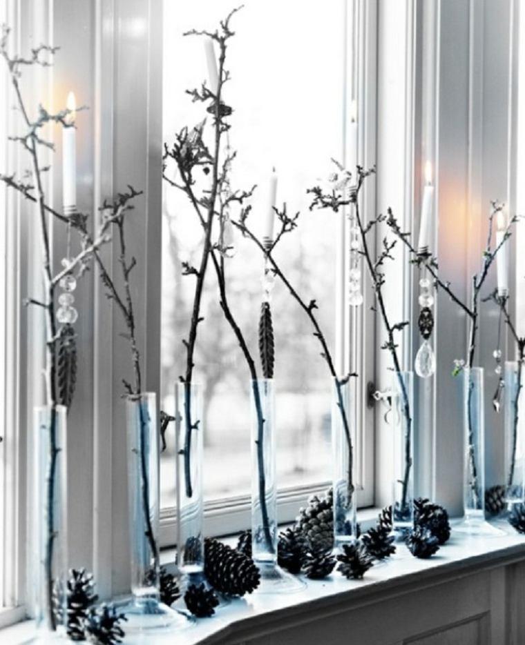 bonita decoración pinas ramas