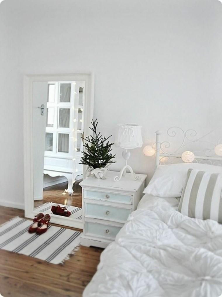 bonita decoración habitacion navidad