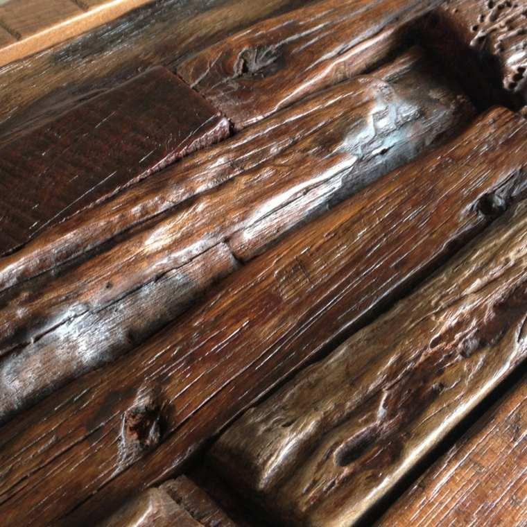 bonita pared diseño madera