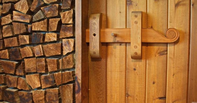 bonita pared madera rústica