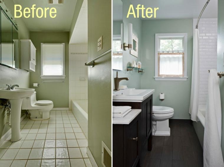 bonita renovacion cuarto baño