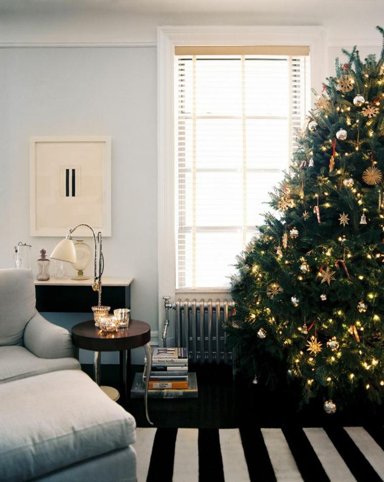 bonita sala estar decoración navidad