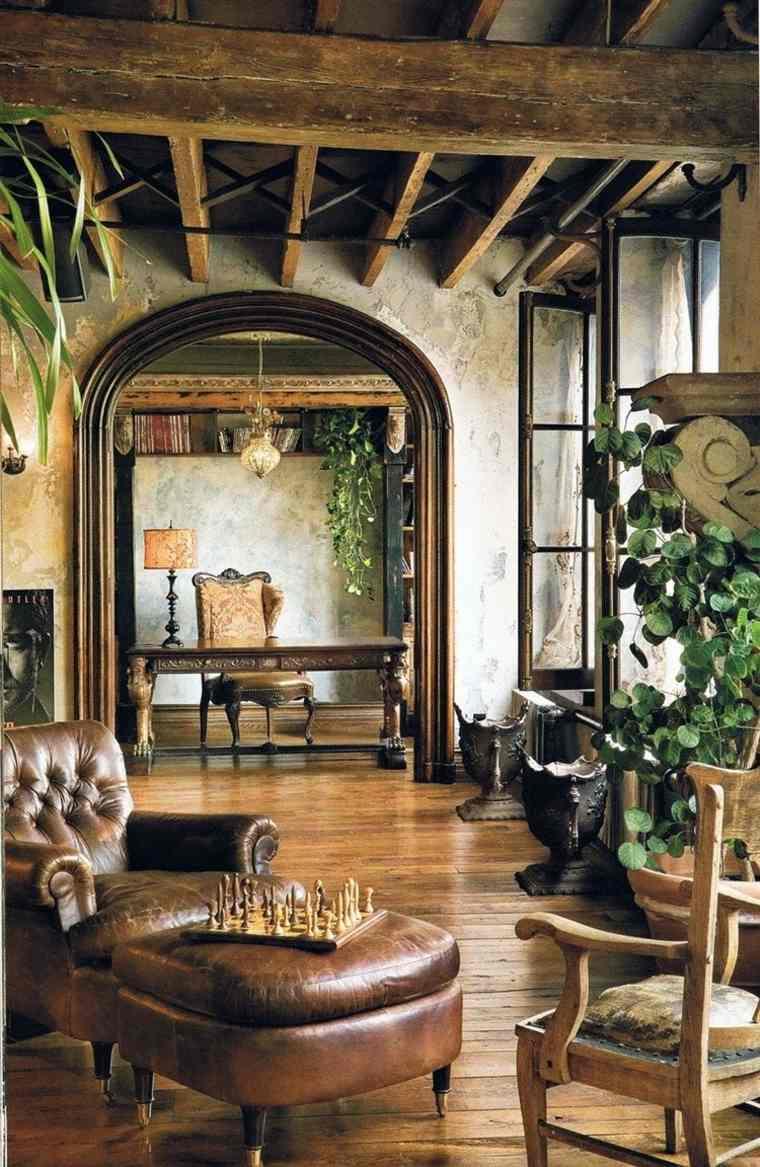 bonita sala estar estilo rustico