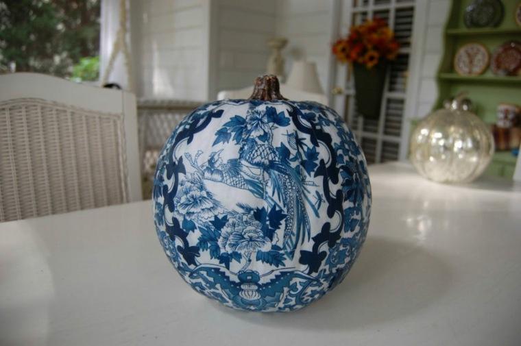 bonita decoración calabaza porcelana