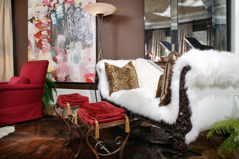 bonita decoración interior invierno