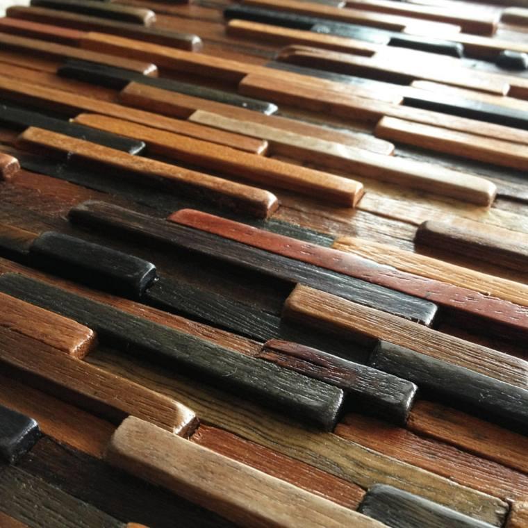 bonitas clavijas madera tres colores