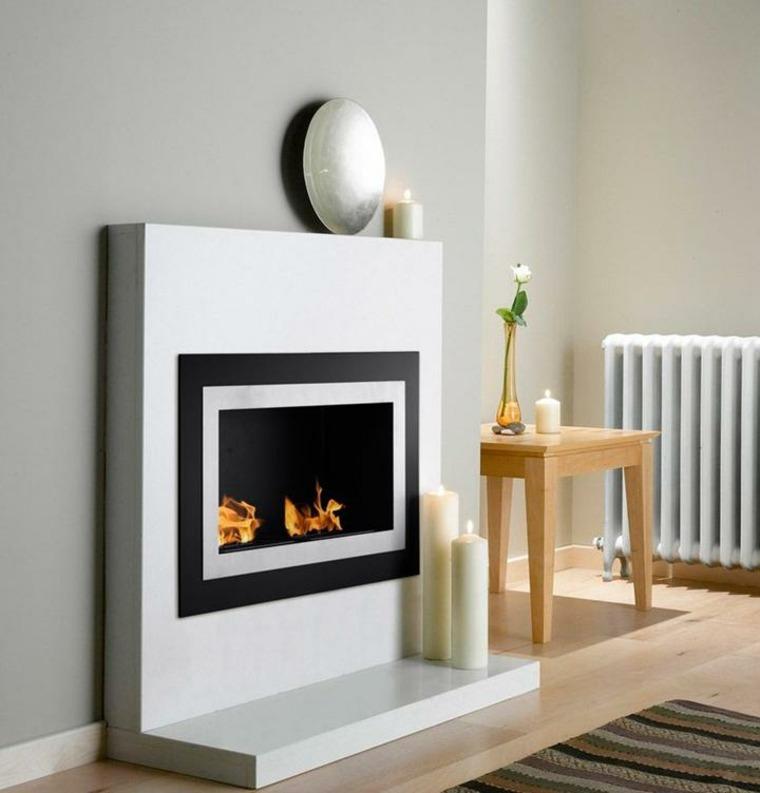 bonito diseño chimenea moderna