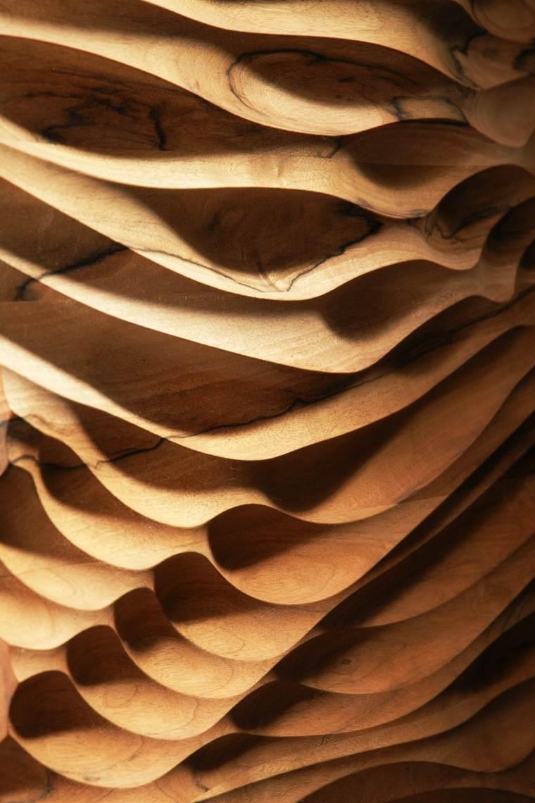 bonito relieve ondas madera