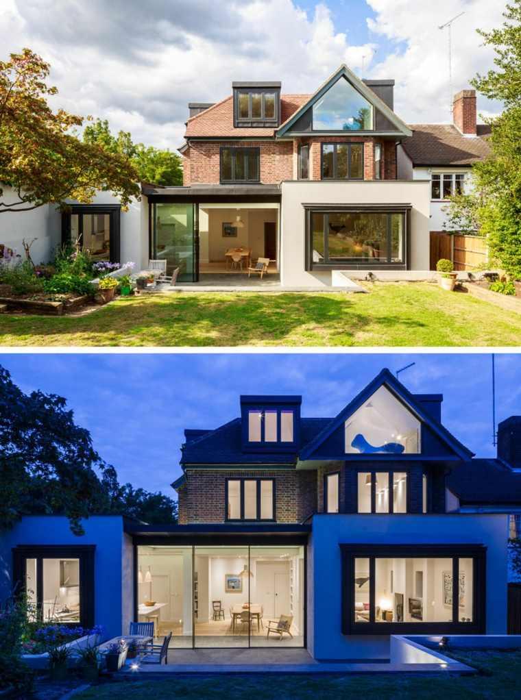 Casas modernas brit nicas con extensiones contempor neas Disenos de casas contemporaneas pequenas