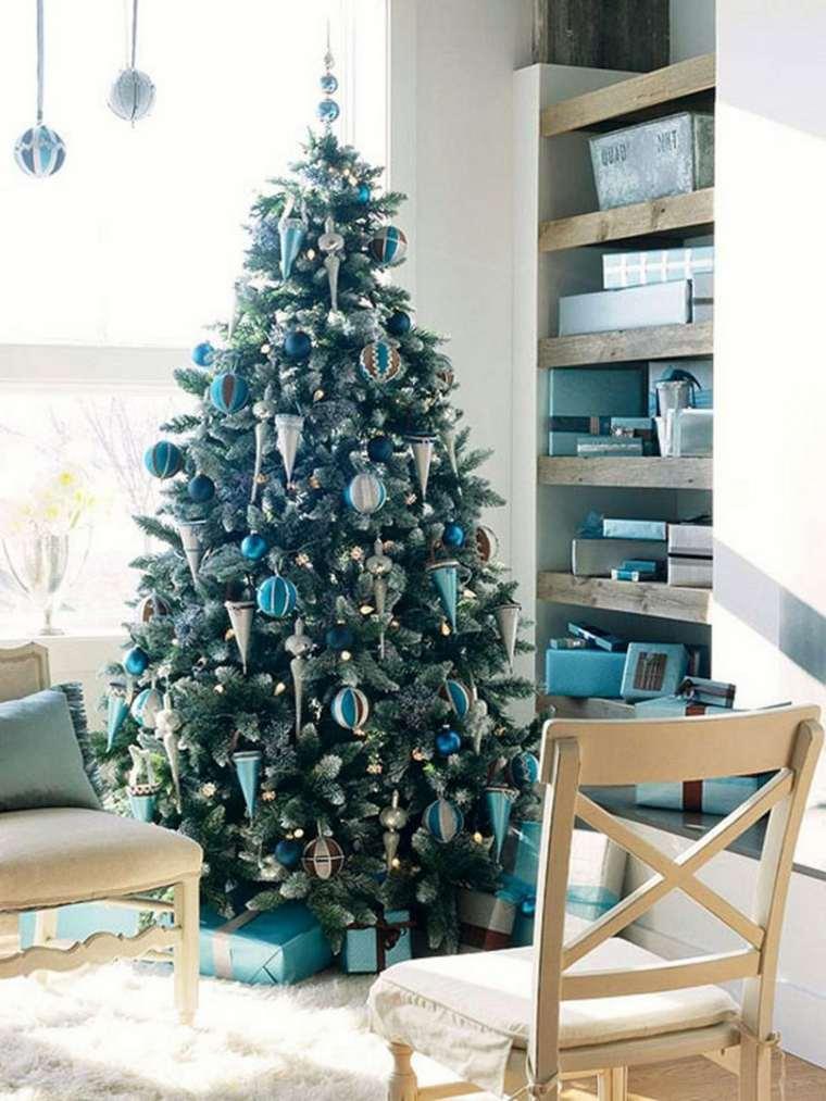 bonito árbol tonos azules