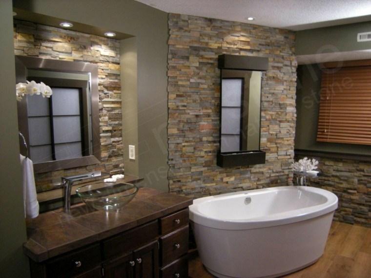 Cuartos De Baño Estilo Rustico:Cuarto de baño de madera y piedra – 42 diseños -