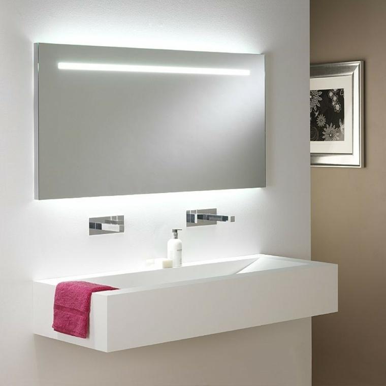 bonito lavabo flotante blanco