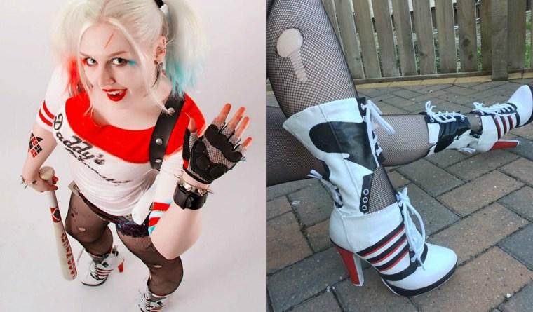 diseno disfraz Harley Quinn