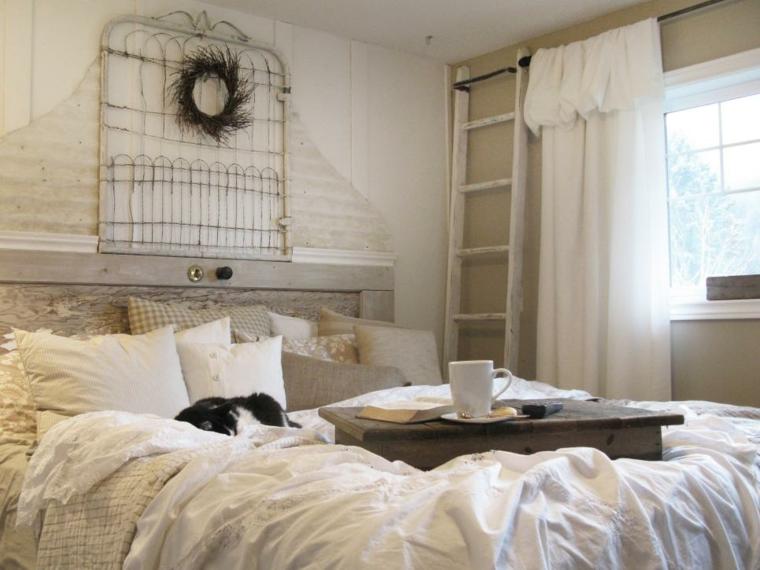 cabecero cama DIY estilo vintage