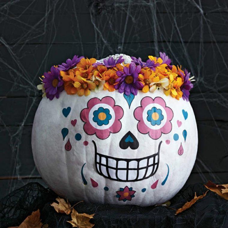 Calabazas sin tallar para este Halloween - 42 ideas -