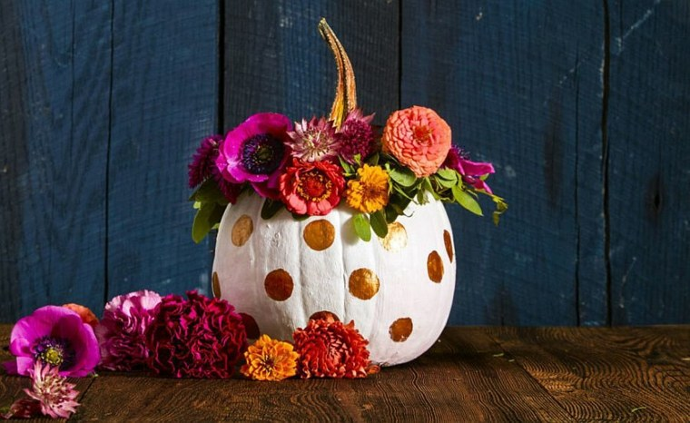 calabazas de halloween flores combinadas efectos