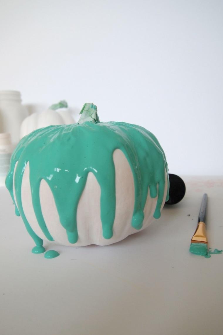 calabazas efecto pintura cayendo formas