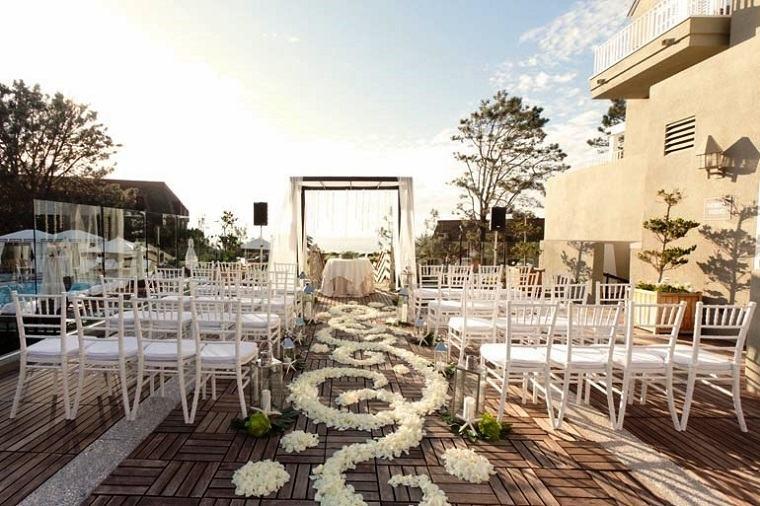 camino altar boda opciones estilo moderno ideas