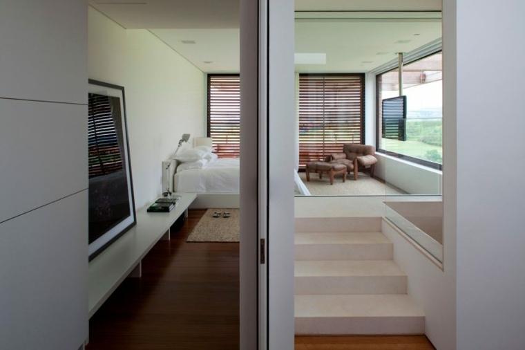 casa de campo brasil diseno dormitorio blanco ideas