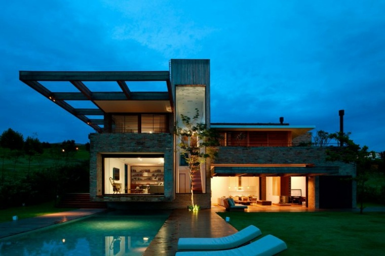 casa de campo brasil diseno jardin moderno ideas