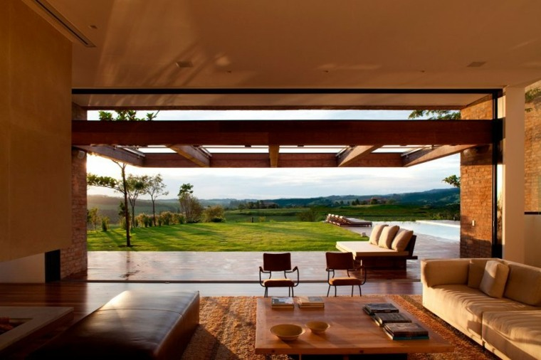 casa de campo brasil espacios exterior modernos ideas