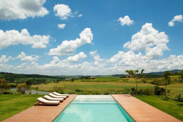 casa de campo brasil jardin piscina ideas