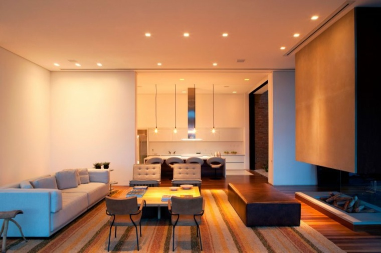 casa de campo brasil salon moderno ideas