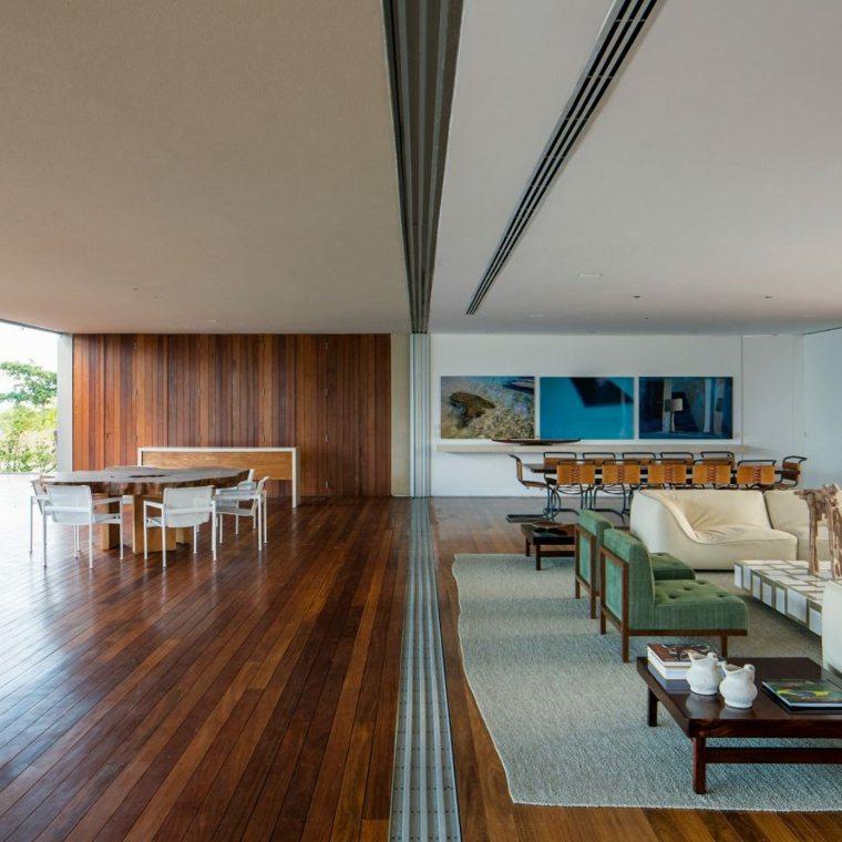 casa en la playa brasil diseno salon moderno ideas