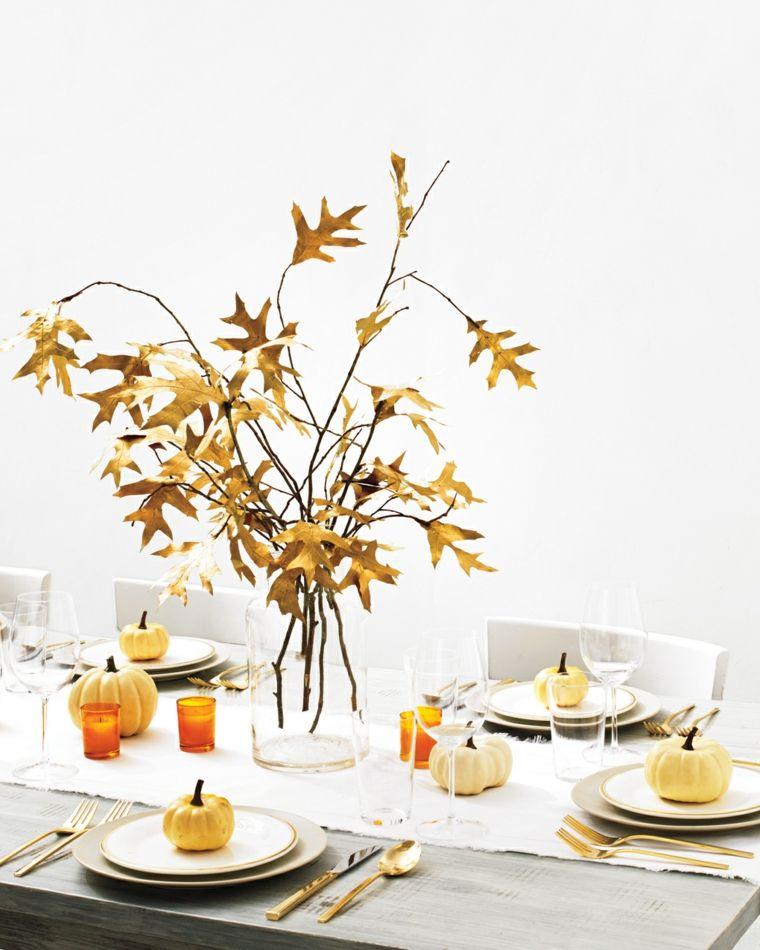 centro mesa sencillo otoño