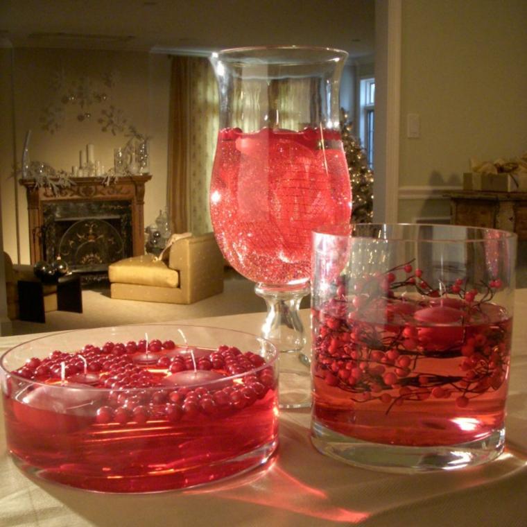 centros mesa navidad rojo