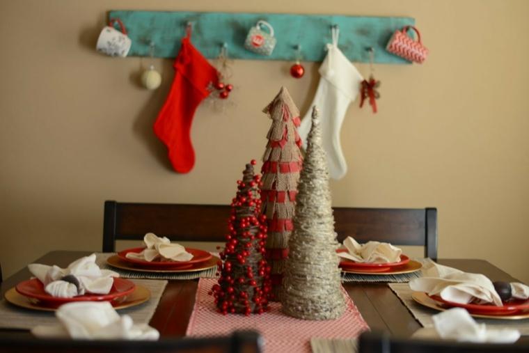 centros de navidad decorar mesa arboles navidad diy ideas