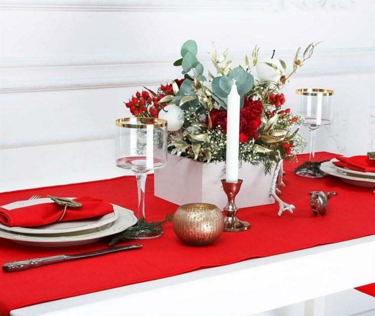centros de navidad decorar mesa bellos ideas