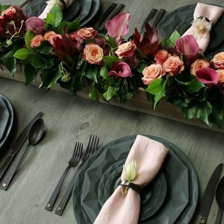 centros de navidad decorar mesa flores frescas ideas