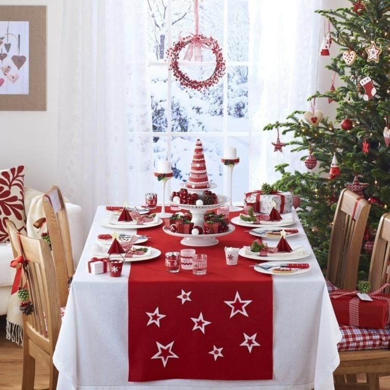centro de navidad decorar mesa interesantes ideas