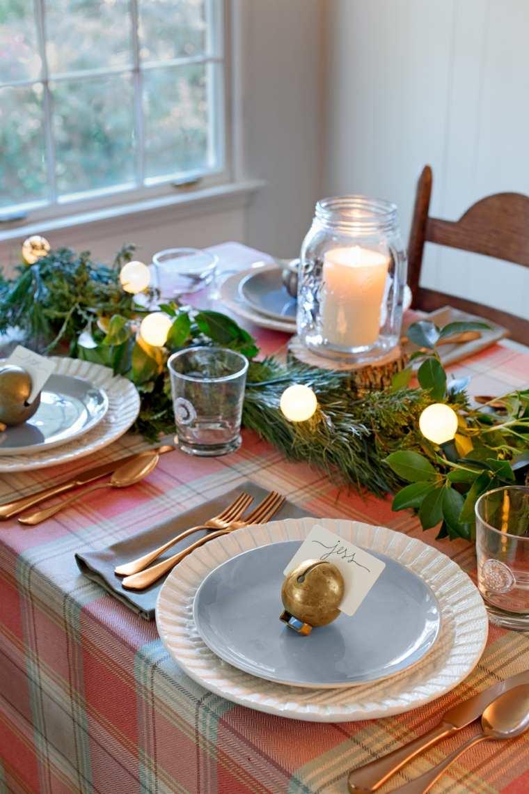 centros de navidad decora mesa luces navidad ideas