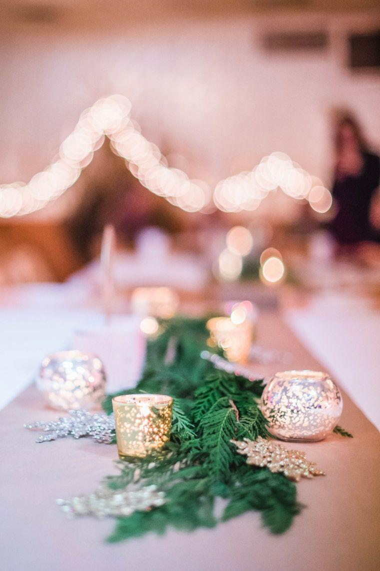 centros de navidad decorar mesa ramas abeto ideas