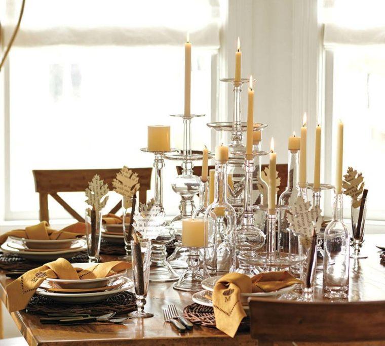 centros mesa navidad decoracion distintas velas ideas