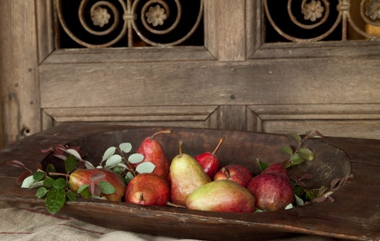 centros mesa navidad decoracion frutas ideas