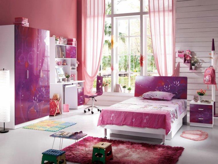habitación chica adolescente color rosa