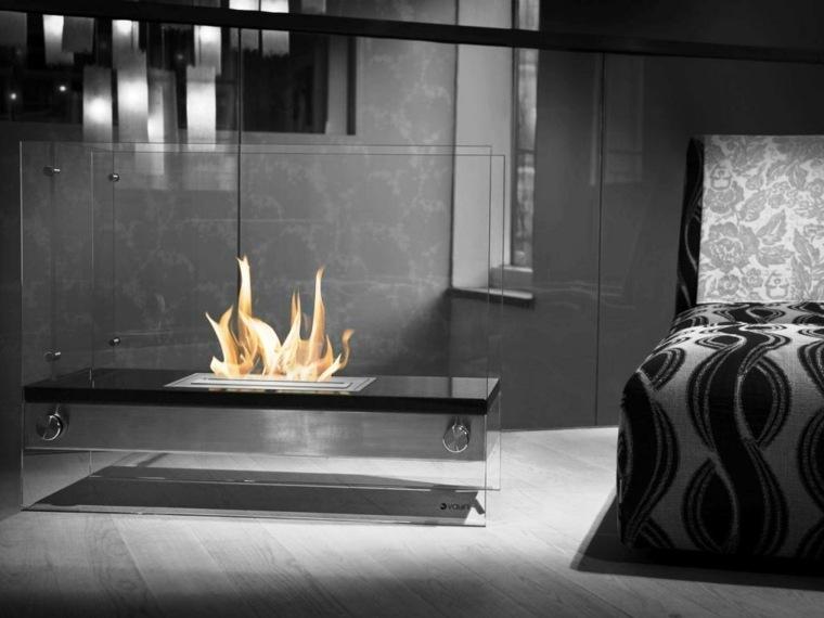 chimenea gas diseño moderno
