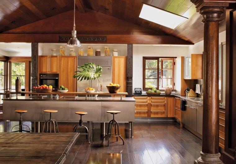 Muebles de cocina 36 ideas para un estilo campestre moderno for Diseno muebles cocina