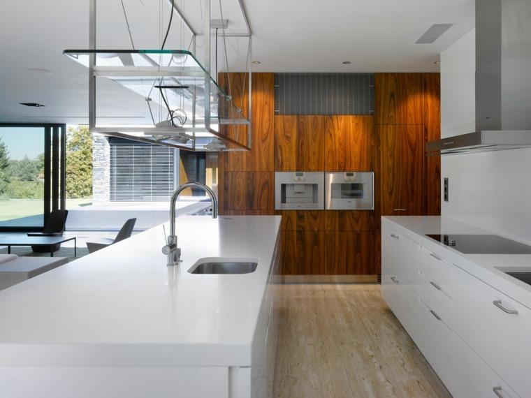 Acentos de madera para interiores modernos - Cocina moderna madera ...