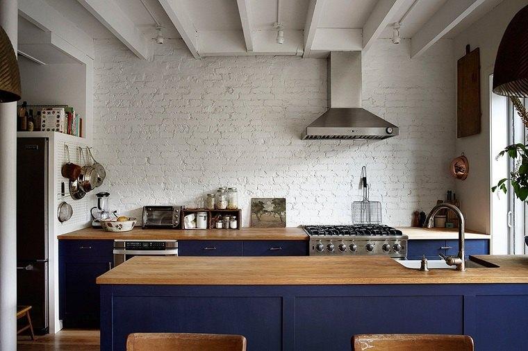 cocina moderna rustica diseno combinacion ideas