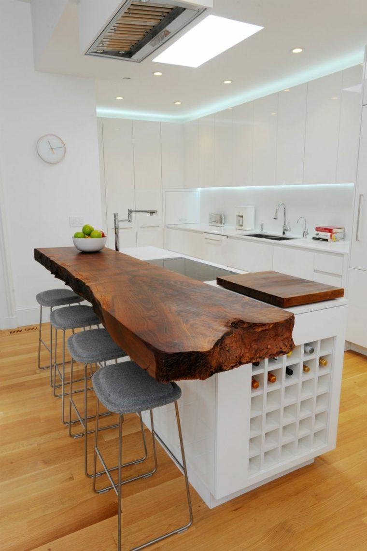 cocinas con encimeras inusuales madera bonita ideas