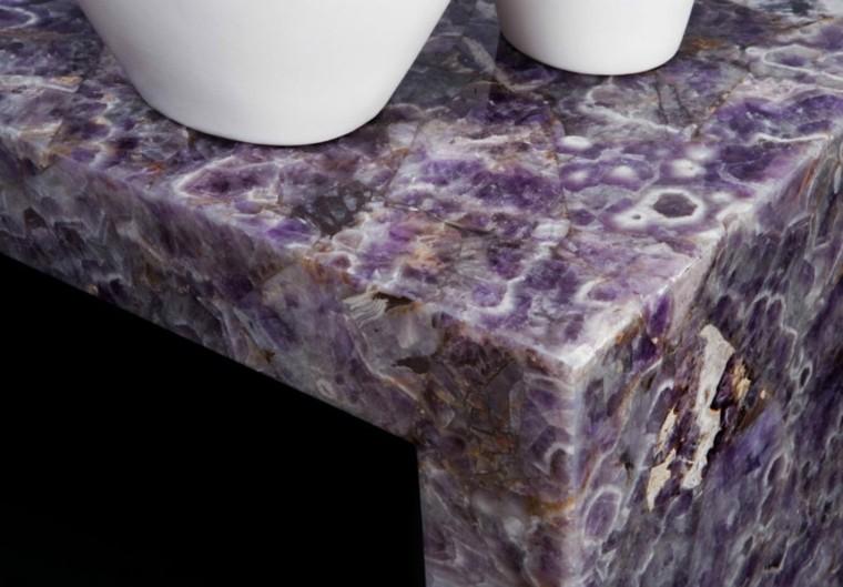 cocinas con encimeras inusuales piedra ametista ideas