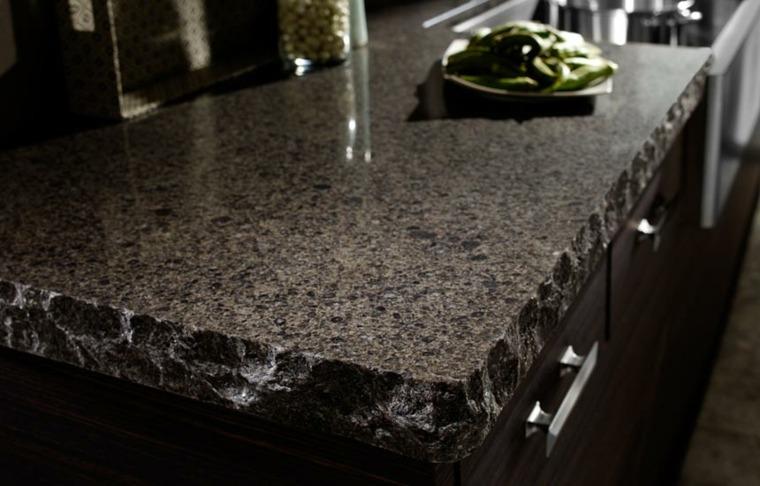 cocinas con encimeras inusuales piedra cuarzo ideas