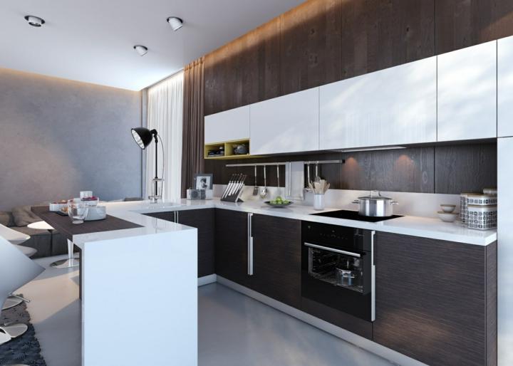 Cocinas distribucion en u de dise os modernos que debes ver for Distribucion muebles cocina
