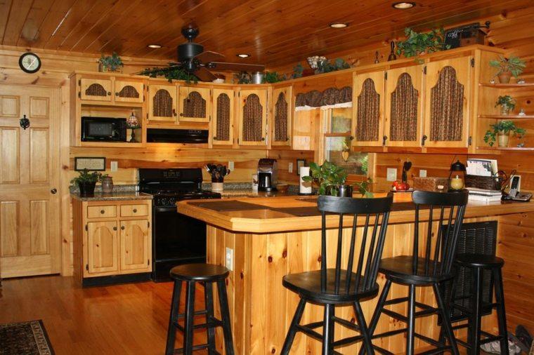 Cocinas r sticas los mejores ejemplos del estilo for Barras de cocina rusticas